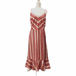 ECI New York V-Neck Chevron Maxi Dress.